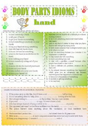 body parts idioms/ fixed phrases (part 6)
