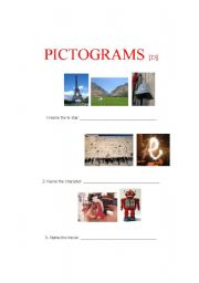 English Worksheets: Pictograms D (4 of 4)