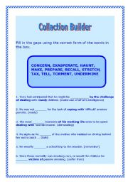English Worksheets: Collaction Builder