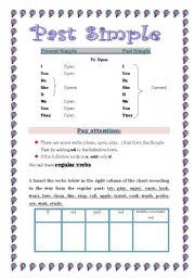 English worksheet: Past Simple