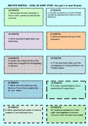 English Worksheets: Book or story writing activities