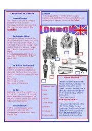 English Worksheet: ENGLAND and The ENGLISH LANGUAGE