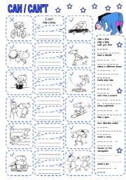 English Worksheet: CAN / CAN´T (5)