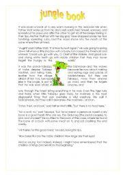 English Worksheets: JUNGLE BOOK