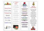 English Worksheets: Bookmarks for teachers