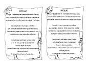 English Worksheets: cuadernito de avisos