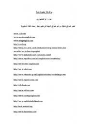 English Worksheets: Very Important sites to learn English