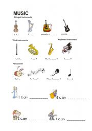 english teaching worksheets musical instruments. Black Bedroom Furniture Sets. Home Design Ideas
