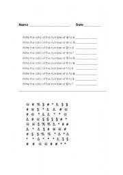 English Worksheets: Ratios