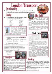 English Worksheet: London Transport