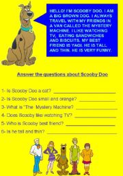 Scooby doo reading comprehension