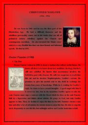 English Worksheets: Christopher Marlow - Dr. Faustus Summary