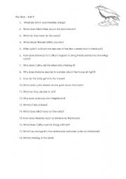 English Worksheets: The Birds Part 5/5