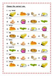 English Worksheet: Breakfast vocabulary