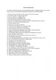 English Worksheets: Funny mistakes