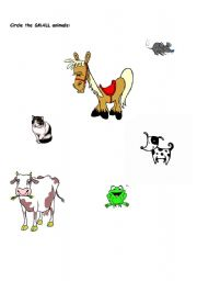 English Worksheets: Small Animals