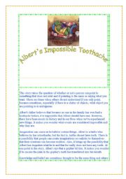 English Worksheets: ALBERT´S TOOTHACHE