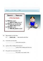 English Worksheets: There is / are 002