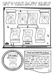 English Worksheet: Let�s talk about family