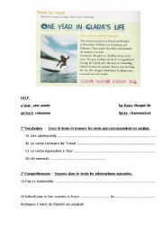 English Worksheets: A surfer´s life