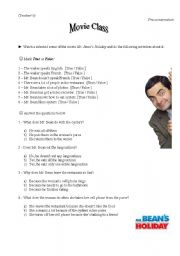 English Worksheets: Movie-conversation class based on the movie