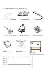 classroom objects esl worksheet by fabiola salinas. Black Bedroom Furniture Sets. Home Design Ideas