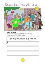 English Worksheets: Describe the picture