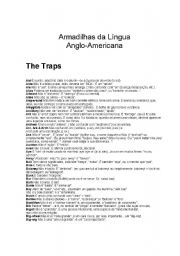 English Worksheets: traps