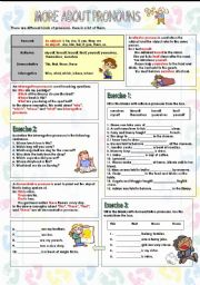 English Worksheets: More about pronouns