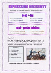 English Worksheets: Expressing necessity - 2 pages