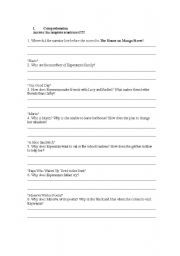 English teaching worksheets: The house