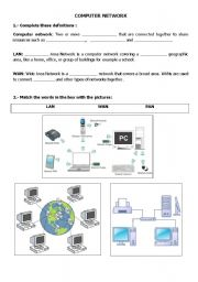 worksheet: COMPUTER NETWORK