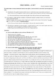 English Worksheets: Subject omission....or not?
