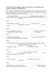 English Worksheets: movie quotes