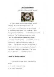 English Worksheets: Jim´s Favorite store