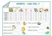 Sports - Can you...?