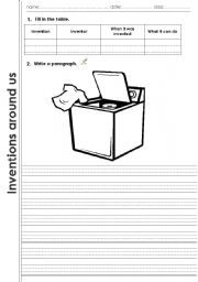 English Worksheets: Inventions_guided_writing