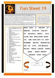 English Worksheets: Fun Sheet 19