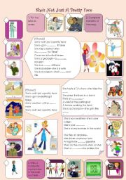 English Worksheets: JOBS --Song activity --She�s not just a pretty face-- Shania Twain