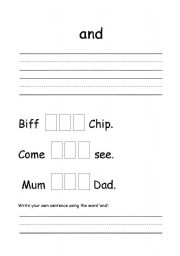 English Worksheets: common words