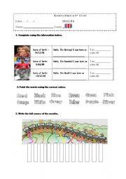 English Worksheets: Revisions Worksheet