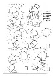 English worksheets the Weather worksheets page 30