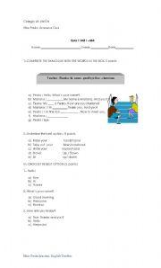 English Worksheets: test  elementary greetings