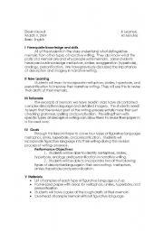 English Worksheet: Figurative Language Lesson Plan
