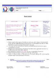 English Worksheets: Book Jacket