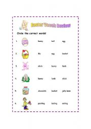 easter vocab review easter fun activity for the little ones 2 pages ...