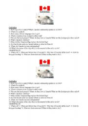 English Worksheet: Canada and Greenpeace webquest