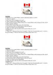 English worksheet: Canada and Greenpeace webquest