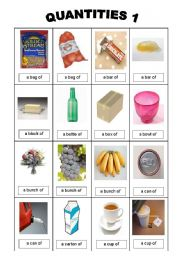 English Worksheets: quantities 1