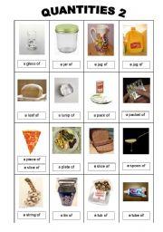 English Worksheets: quantities 2
